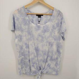 Sanctuary XL Blue Tie Dye Knot Stretch T-Shirt